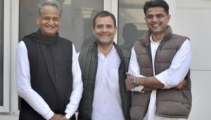 Ashok Gehlot Named Chief Minister of Rajasthan; Sachin Pilot To be Deputy Chief Minister