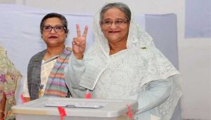 Bangladesh election: PM Sheikh Hasina wins landslide in disputed vote