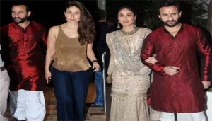 Saif Ali Khan was spotted in kurta at Christmas Party, Begum Kareena floored us with sexy avatar