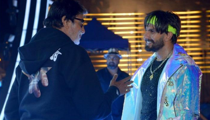 Spell bound Amit ji posts pic with Electric Eclectic Ranveer | Check