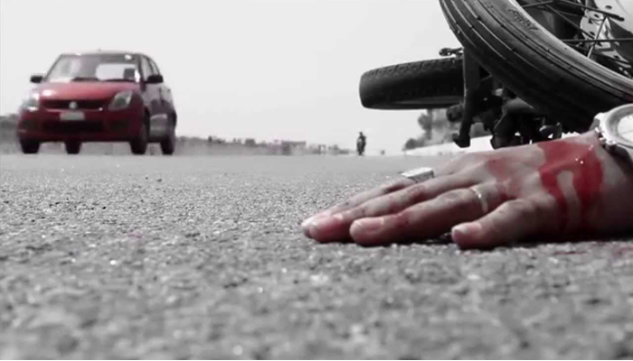 Three killed as speeding truck hits motorcycle in UP
