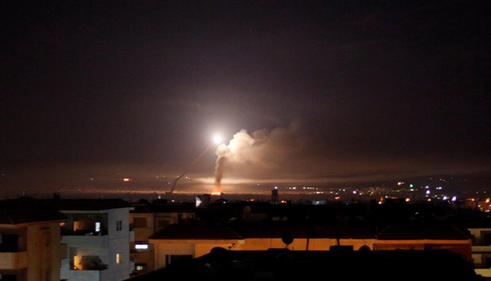 Israels army attacks Iranian targets around the Syrian capital Damascus