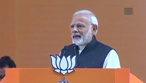 BJP's National Convention in Delhi, Modi attacks opposition
