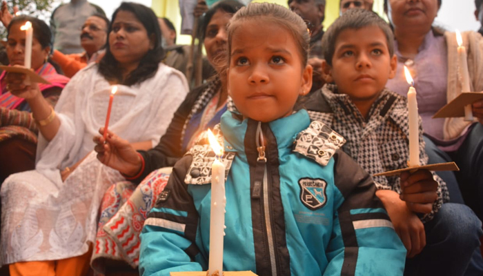 Hundreds join Candle March in Lucknow for Pulwama Attack Martyrs