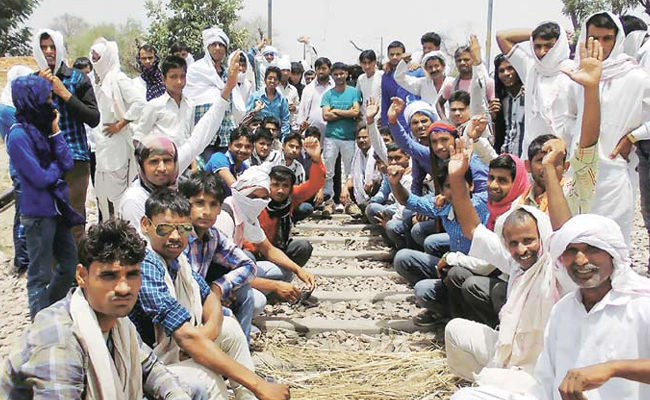 Rajasthan: Gujjars stage protest, demand 5% quota promised by govt