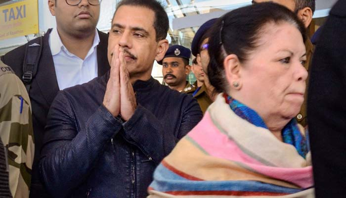 Vadra slams govt for harassing his mother, reaches Jaipur ED office with her