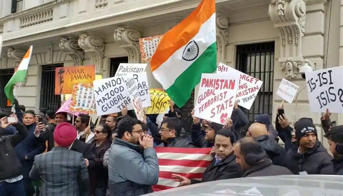 Pulwama attack: US Indians hold protests at Pakistani, Chinese consulates