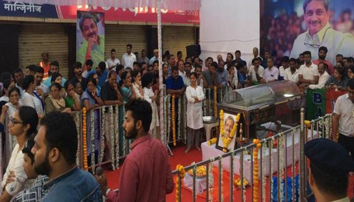 Parrikar cremated with full State Honour; Laid to rest at Miramar Beach