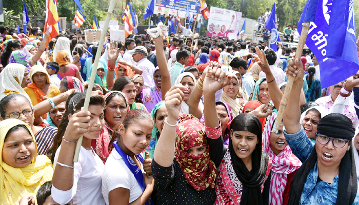 Dalits and Tribals called Bharat band on 5th March