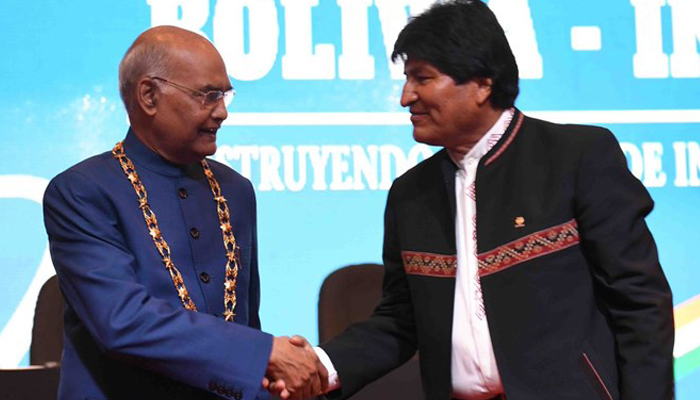 India offers USD 100 million credit to Bolivia for development projects