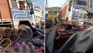 Lucknow: Two men die on spot when truck rolls over them