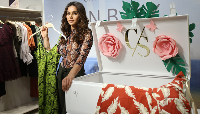 Shibani Dandekar at the unveiling of Cover Storys Spring Summer collection
