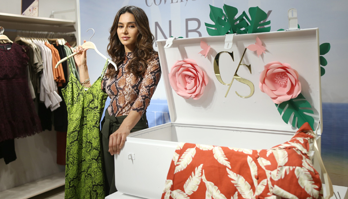 Shibani Dandekar at the unveiling of Cover Story's Spring Summer collection