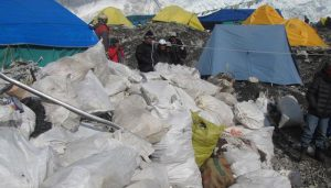 Can you believe! This amount of garbage collected from Mt Everest