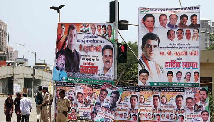 UP: Four women arrested for putting up Cong posters on public buildings