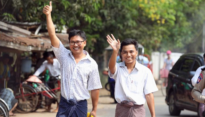 Myanmar frees two Reuters journalists in amnesty after 500 days: video