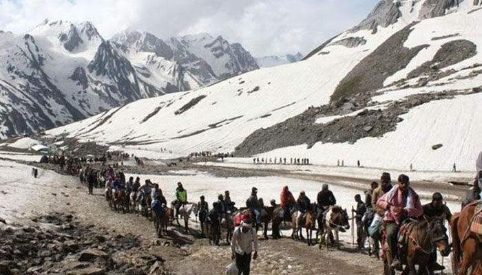 Jammu: 11th batch of another 5486 pilgrims leaves for Amarnath Yatra
