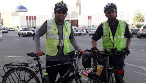 Two Indian men reach UAE on cycles pedalling 3,800-kilometer