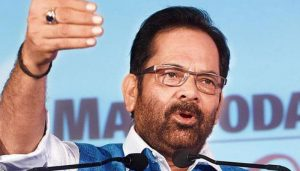 Cong trying to convert corruption into revolution: Mukhtar Abbas Naqvi