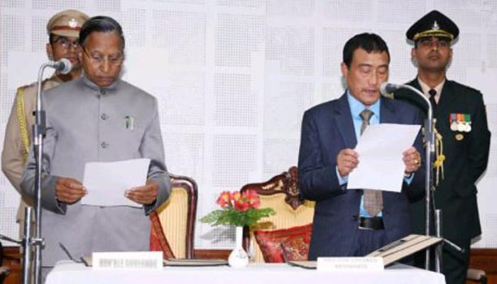 Sangay Lepcha sworn in as Pro-tem Speaker of Sikkim Assembly