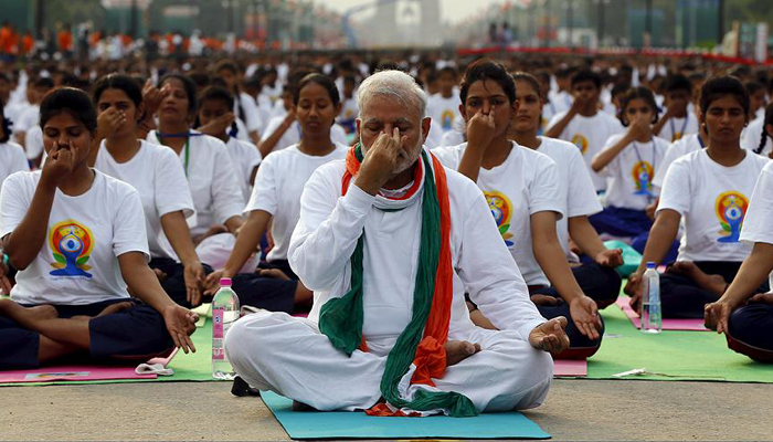#InternationalYogaDay: Yoga integral part of our culture, says PM Modi