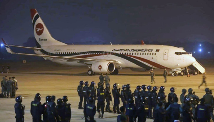 Pilot flying to bring Bangladesh PM back home caught without passport