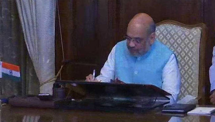 Amit Shah takes charge as Union Home Minister in new cabinet