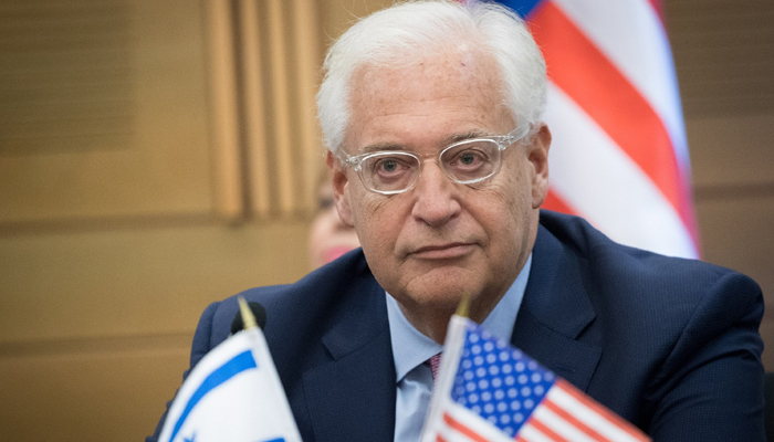 United States envoy says Israel has right to annex West Bank land