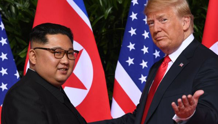 US President Donald Trump offers support for troops at DMZ