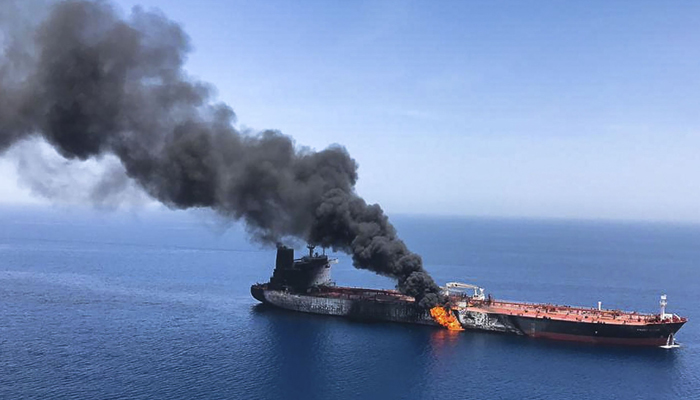 Iran responsible for attacks on oil tankers in Gulf of Oman: US