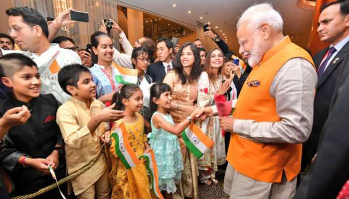 PM Modi accorded warm welcome by Indian community in Japan