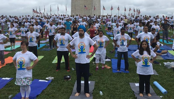 Record 2,500 register for International Yoga Day event at Washington monument