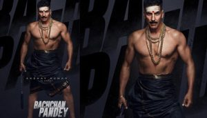 Superstar Akshay Kumar releases quircky first look of 'Bachchan Pandey'