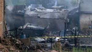 Small military plane crashes in Pakistan, killing at least 10
