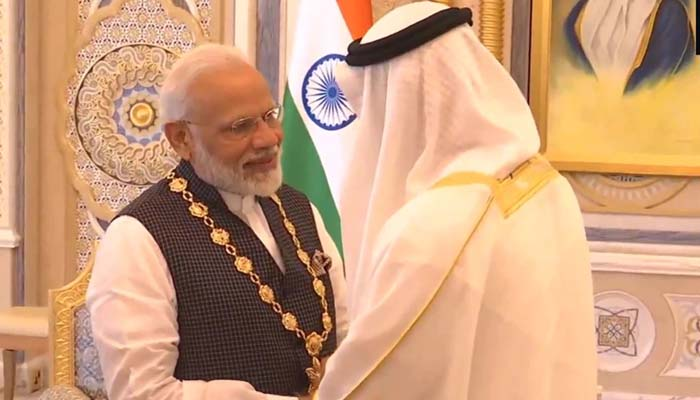UAE honours PM Modi with its highest civilian award 'Order of Zayed'