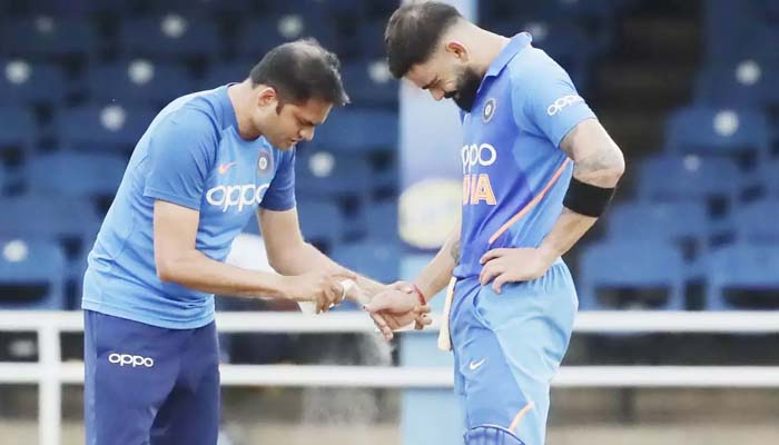 Blow on thumb not of serious concern, should be fine for 1st Test: Kohli