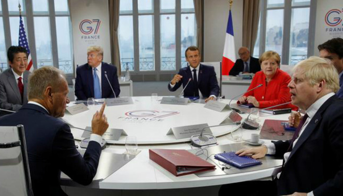 G7 wrestles with Iran, Amazon fires and trade, but own unity shaky