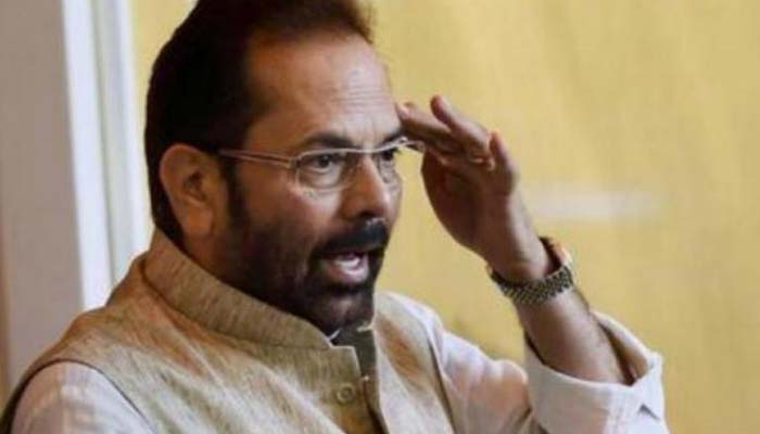 Congress trying to create confusion over CAA: Naqvi