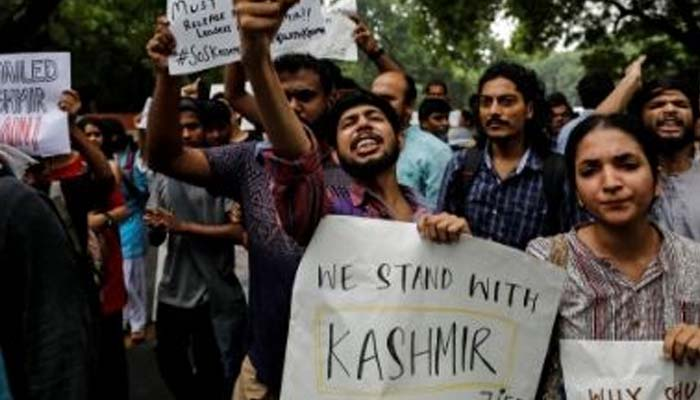 Pak observes Black Day on Indias I-Day to protest centres move on J-K