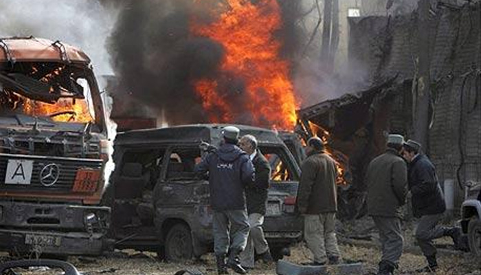 Bombing at president rally in central Afghanistan kills at least 24