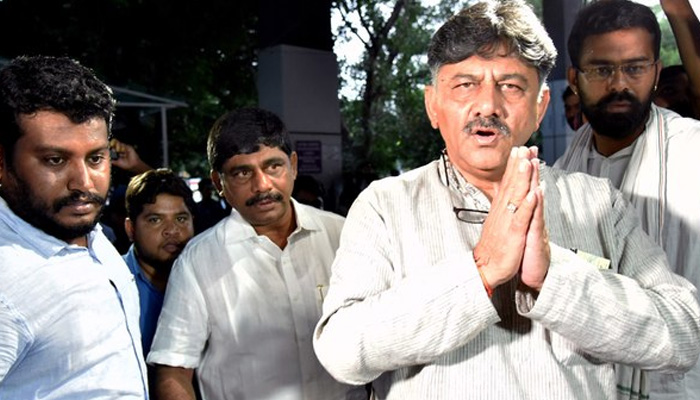 Cong holds protests in Karnataka against Shivakumar's arrest