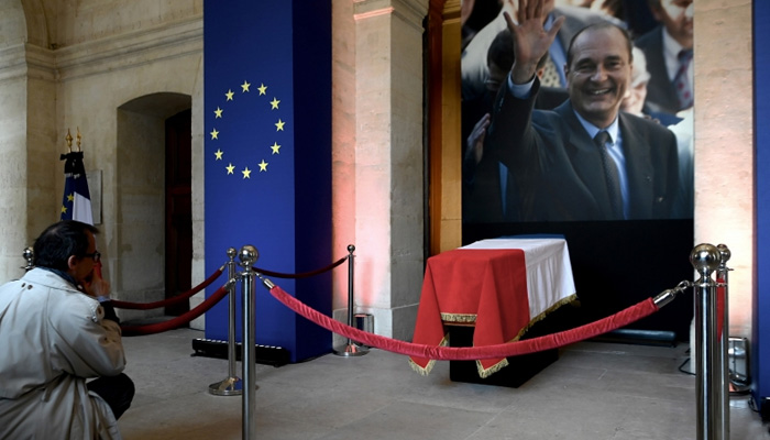 French bid farewell at coffin of ex-president Jacques Chirac