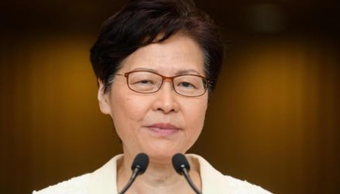 Hong Kong leader insists she will stay on, no intention of quitting