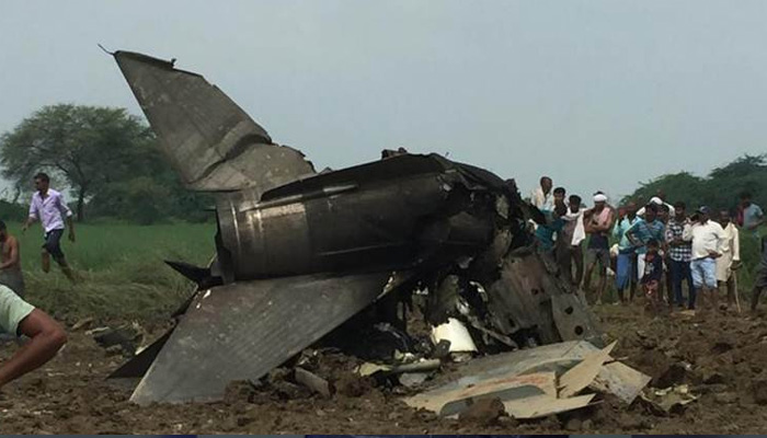 IAF MiG trainer aircraft crashes near Gwalior airbase, pilot eject safely