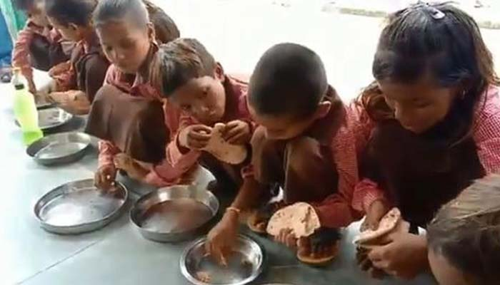 Journalist booked for recording video of salt-roti midday meal