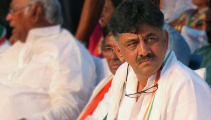 K'taka Cong leader Shivakumar appears before ED for 3rd time in Delhi