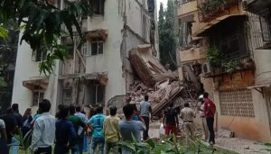 Part of 5-storey building collapses in Mumbai; no casualty