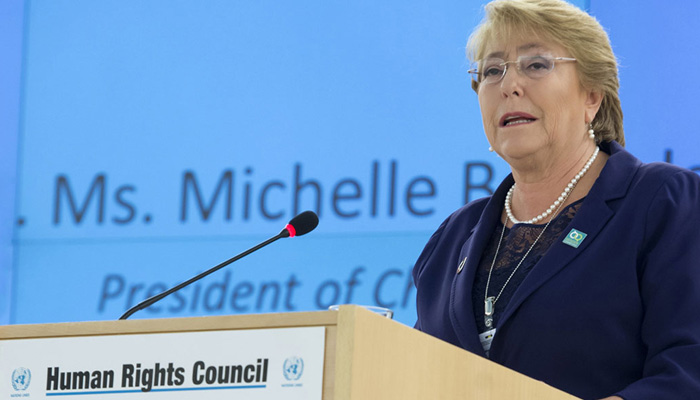 UN rights chief asks Ind-Pak to respect and protect human rights of J-K
