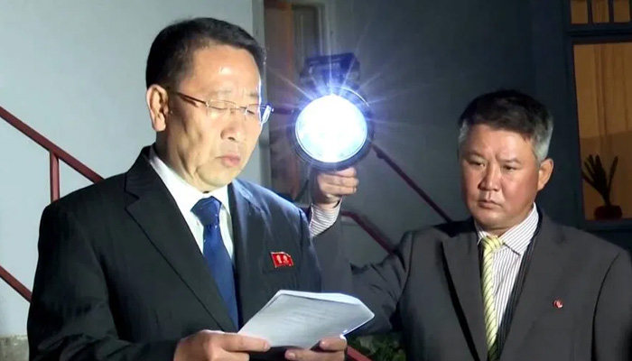 N Korea negotiator says nuclear talks with US have broken down