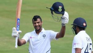Agarwal hits maiden Test ton, Rohit out for 176 on Day 2 morning